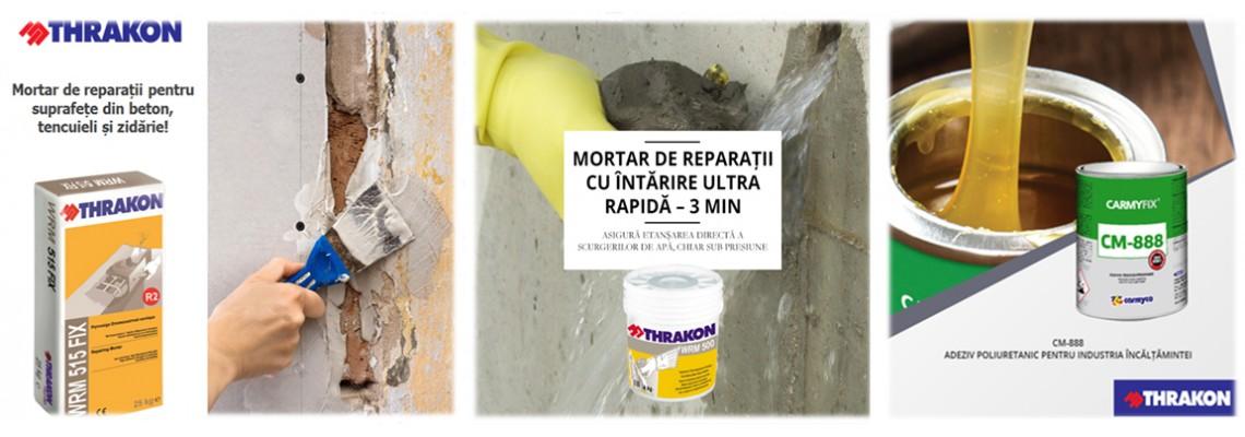 Produse Speciale - mortare de reparaţii ale zidăriei (interior/exterior), ale betonului armat, tencuielii si suprafeţelor vopsite